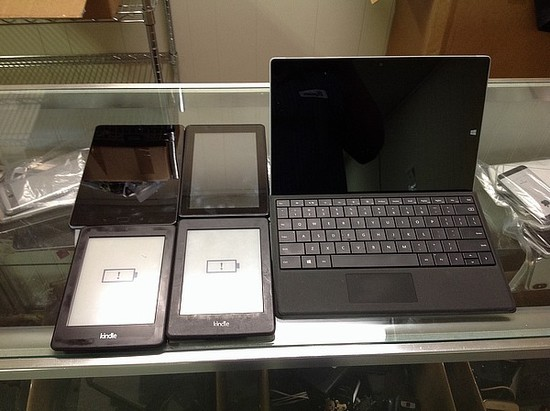 Tablets 3 kindle, ASUS, HP possibly locked