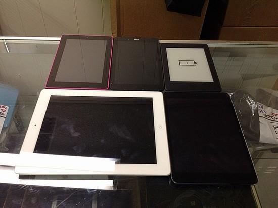 5 tablets kindle, lg, Amazon, iPad A1458 A1489 possibly locked