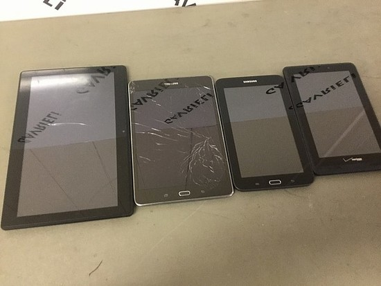 Tablets No chargers, some damage