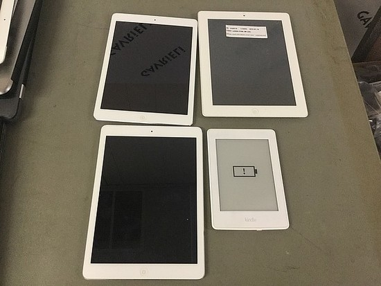 Kindle,3  iPads,models  A1416, A1475, A1474, all possibly locked