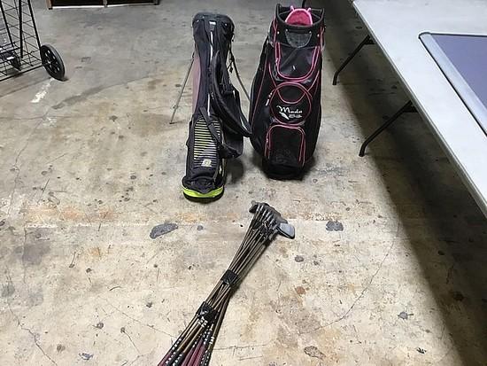 Tour Edge golf bag, ping golf bag, ping golf clubs