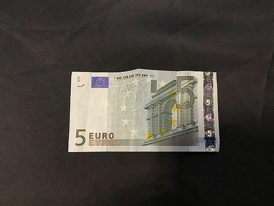 5 dollar Euro bill