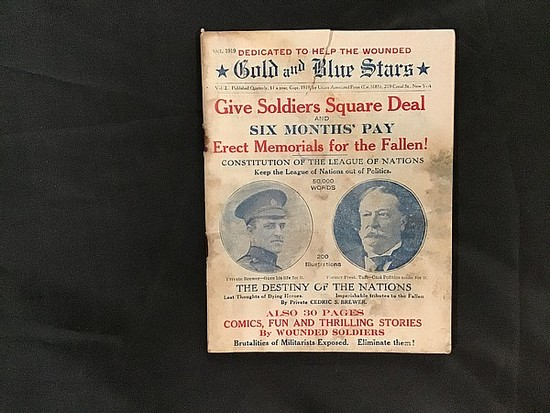 Vintage 1919 union associated press gold and blue star newspaper
