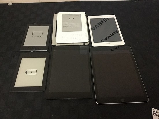Tablets Amazon, iPad, ACER Possibly locked, no chargers