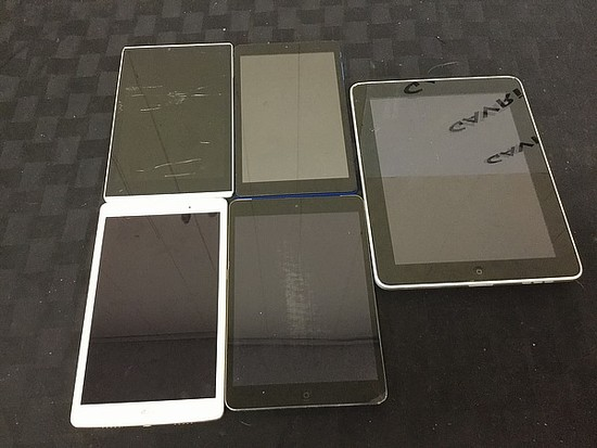 Tablets Ellipsis, nextbook, LG, IPad A1490 A1219 Possibly locked, Some damage