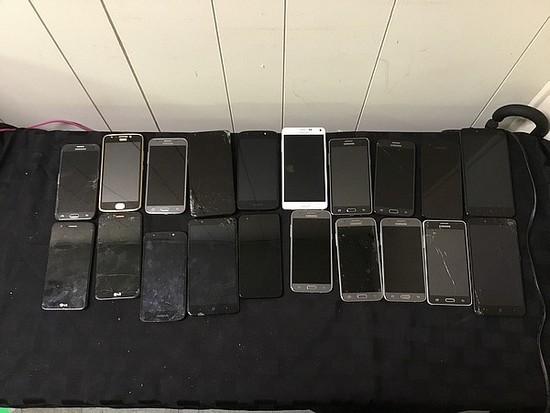 LG, Motorola, Samsung, ZTE Cellphone, possibly locked, no charger, some damage
