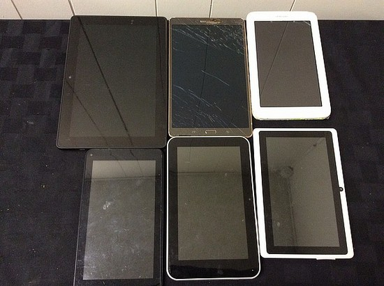 Apex, Vivitar, Samsung, Amazon Tablets, possibly locked, no chargers, some damage