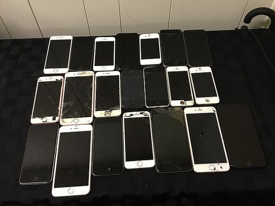 Iphones possibly locked, no chargers, some damage