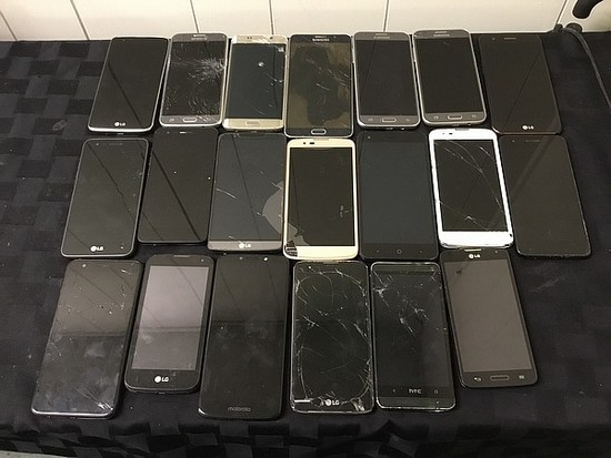 LG, HTC, Samsung Possibly locked, no chargers, some damage