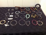 Bracelets, earrings, charms