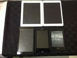 Tablets possibly locked, no chargers, some scratches iPod A1396 A1474, Amazon, Samsung, kindle