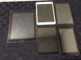 iPad A1397 A1432, Amazon Tablets possibly locked, no chargers, some scratches