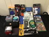 Wallet, speakers, games, fit tracker Flashlight, snack bag, phone case, chain, mini hair straightene