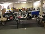 Cooler, backpack, first aid kit, books, television Karaoke set, speaker, air brush kit, shower oil,