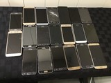 20 Samsung cell phones, possibly locked, some damage