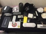 Cameras, speakers, headphones, power banks Nintendo DS, clock, computer mouse, Wilkie talkie