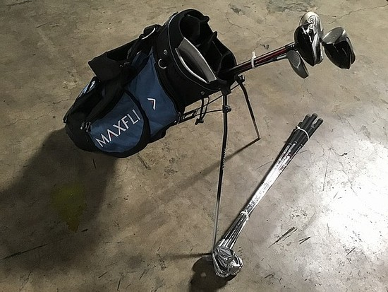 Taylor made golf clubs, maxfli golf bag, mizuno jpx900 golf clubs