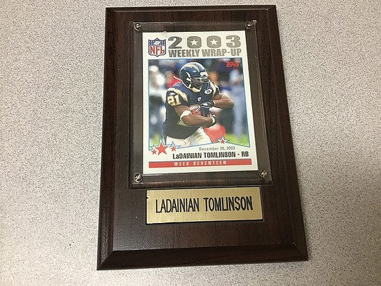 LaDainian Tomlinson Trading Card Authenticity Unknown