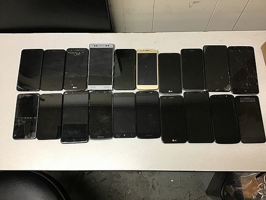 20 Cellphones, ZTE, LG, RED, Windows, Motorola possibly locked, some damage, Unknown activation stat