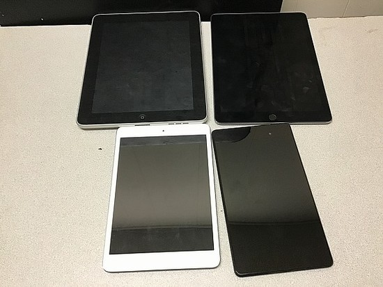 Tablets iPad A1219 16GB A1673 A1432, ASUS Possibly locked, Some damage, no chargers