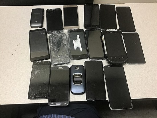 Cellphones possibly locked, no chargers, some damage