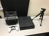 PS4 NO CABLES, controller, tripod, speaker