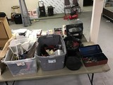 Tools, lighting, tool box