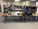 Vacuum, pump,Television, air mattress, dvds, skateboards Sport equipment, sweeper, tool bags, gps, c