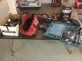 Tools, saw, drill, jumper