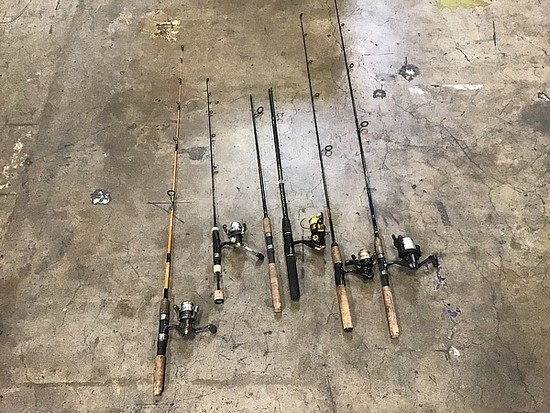 6 fishing rods
