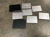 8 laptops Possibly locked, possibly hard drive removed