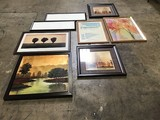 Assorted picture frames (Cart not included)