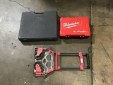 Empty tool case, Case for cordless drill - empty, red/silver handtruck