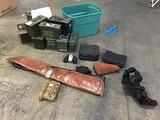 US marines first aid kit,black utility belt, Black gun bag,gun cases, ammo boxes