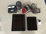 iPad, amazon kindle, garmin gps, iPod, Speaker, aiptek video recorder,(tablets possibly locked)