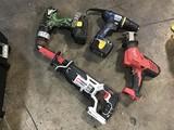 Reciprocating saw, sawsaw, two drills