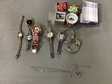 8 watches , necklace, rings