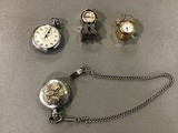 Pocket watches, miniature clocks