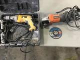 DeWalt drill, ridged grinder
