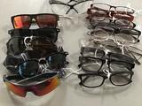 Assorted eyewear, sunglasses