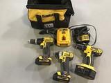 DeWalt power tools and bag Drills