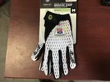 White and Black football gloves