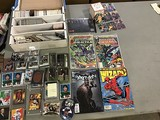 Jose canseco signed baseball, comics And box of sports trading cards
