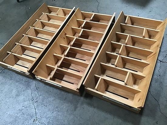 3 cds wooden organizers