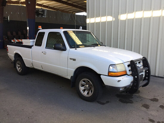 2000 Ford Ranger Extended-Cab Pickup Truck WITH KEY, MINOR BODY DAMAGE