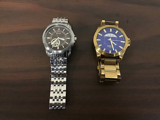 Gold colored Diesel watch Used