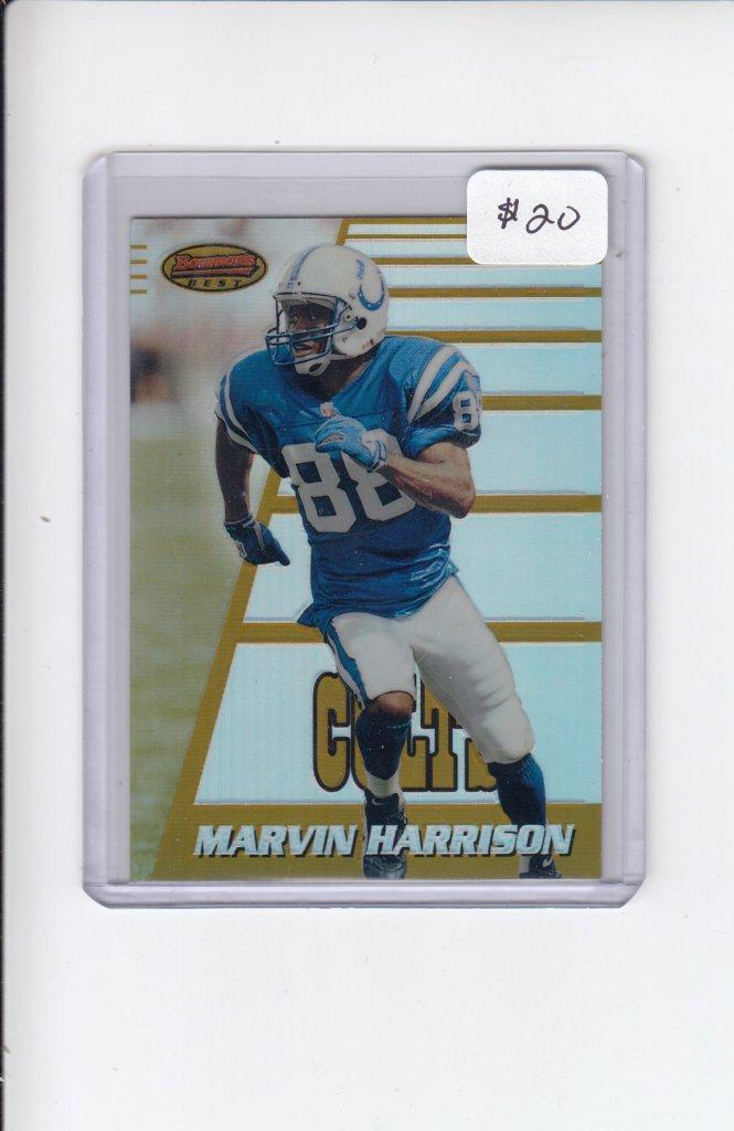 Lot Marvin Harrison 1996 Bowmans Best Refractor Rookie