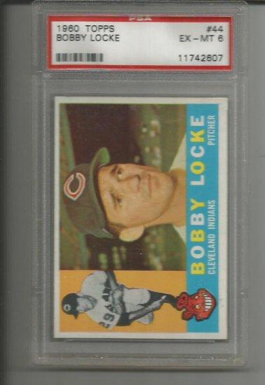 BOBBY LOCKE 1960 TOPPS #44 ROOKIE CARD / GRADED