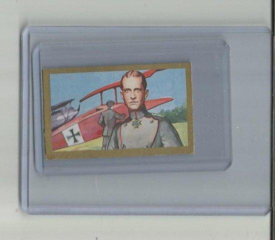 RED BARON AKA MANFRED VON RICHTHOFEN 1934 MARTINN BRINKMANN CIGARETTE ROOKIE CARD