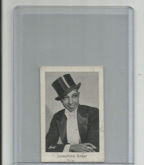JOSEPHINE BAKER 1931 JOSETTI CIGARETTES TOBACCO ROOKIE CARD